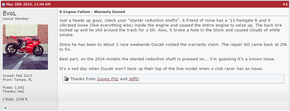 Ducati Reviews and Complaints – 2013 Ducati 1199R Panigale